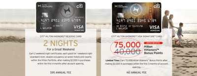 75,000 Hilton Points With Citi Hilton Visa Signature Card