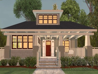 Home Designer Chief Architect 2014 Chief Architect Home Designer Suite 2015, craftsman bungalow ...