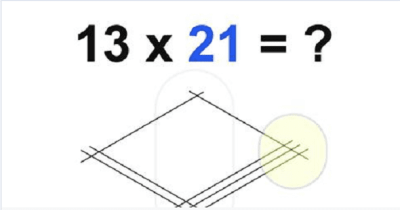 Multiplication Made Easier By Simply Drawing Lines