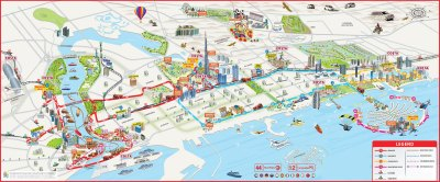 Dubai Attractions Map PDF - FREE Printable Tourist Map Dubai, Waking Tours Maps 2019