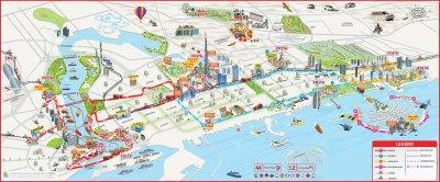 Dubai Attractions Map PDF - FREE Printable Tourist Map Dubai, Waking Tours Maps 2019