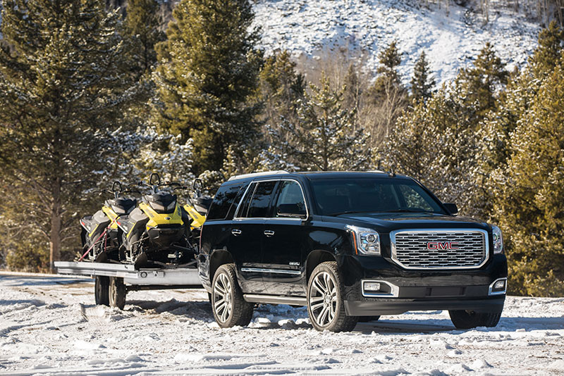 Review  2018 GMC Yukon Denali Is a Balance of Power and Practicality The GMC Yukon Denali is a full sized luxury SUV that tows up to 8 400  pounds   Photo  GMC