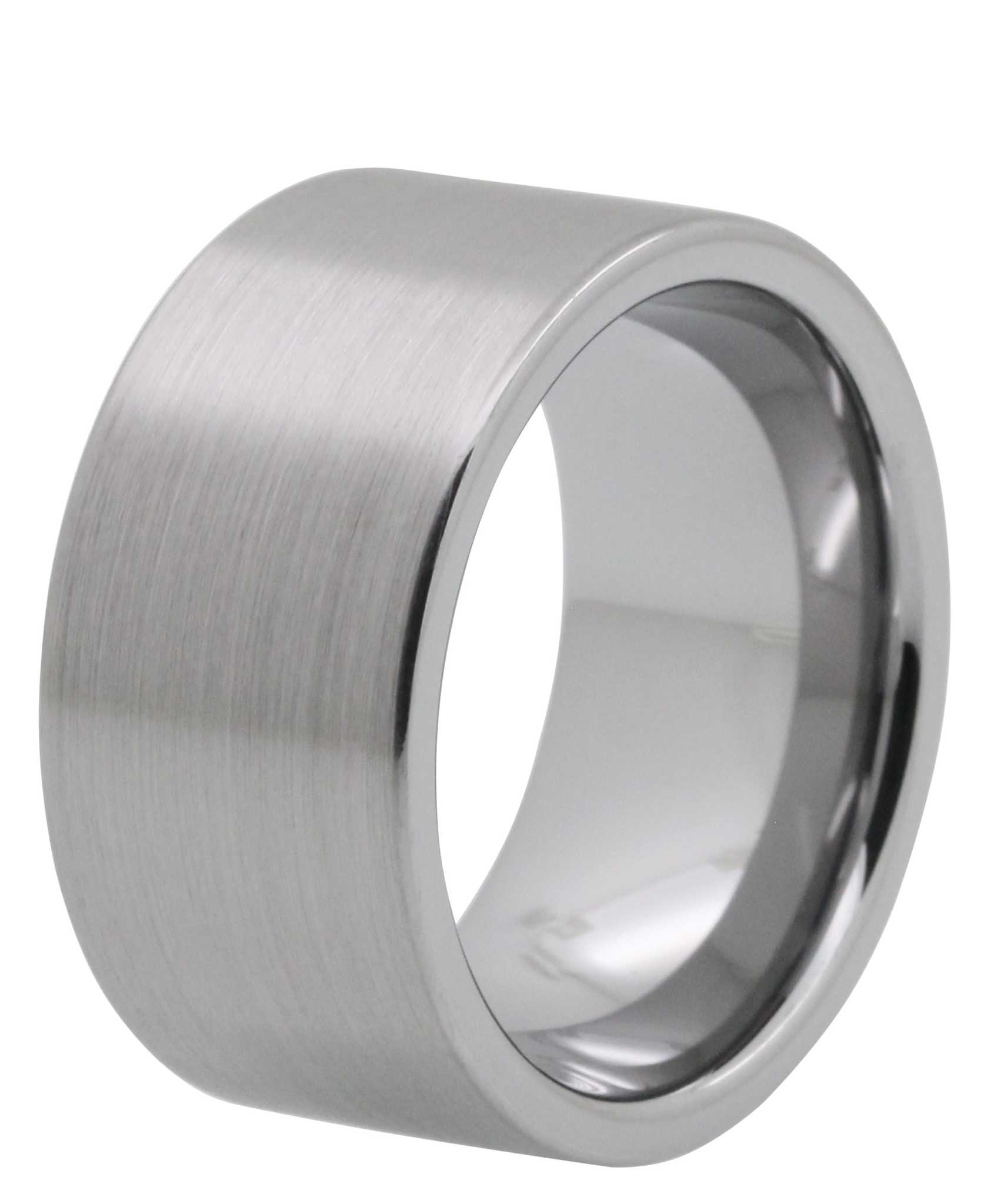 wide tungsten rings wide wedding bands 12MM Brushed Tayloright Tungsten Carbide Ring