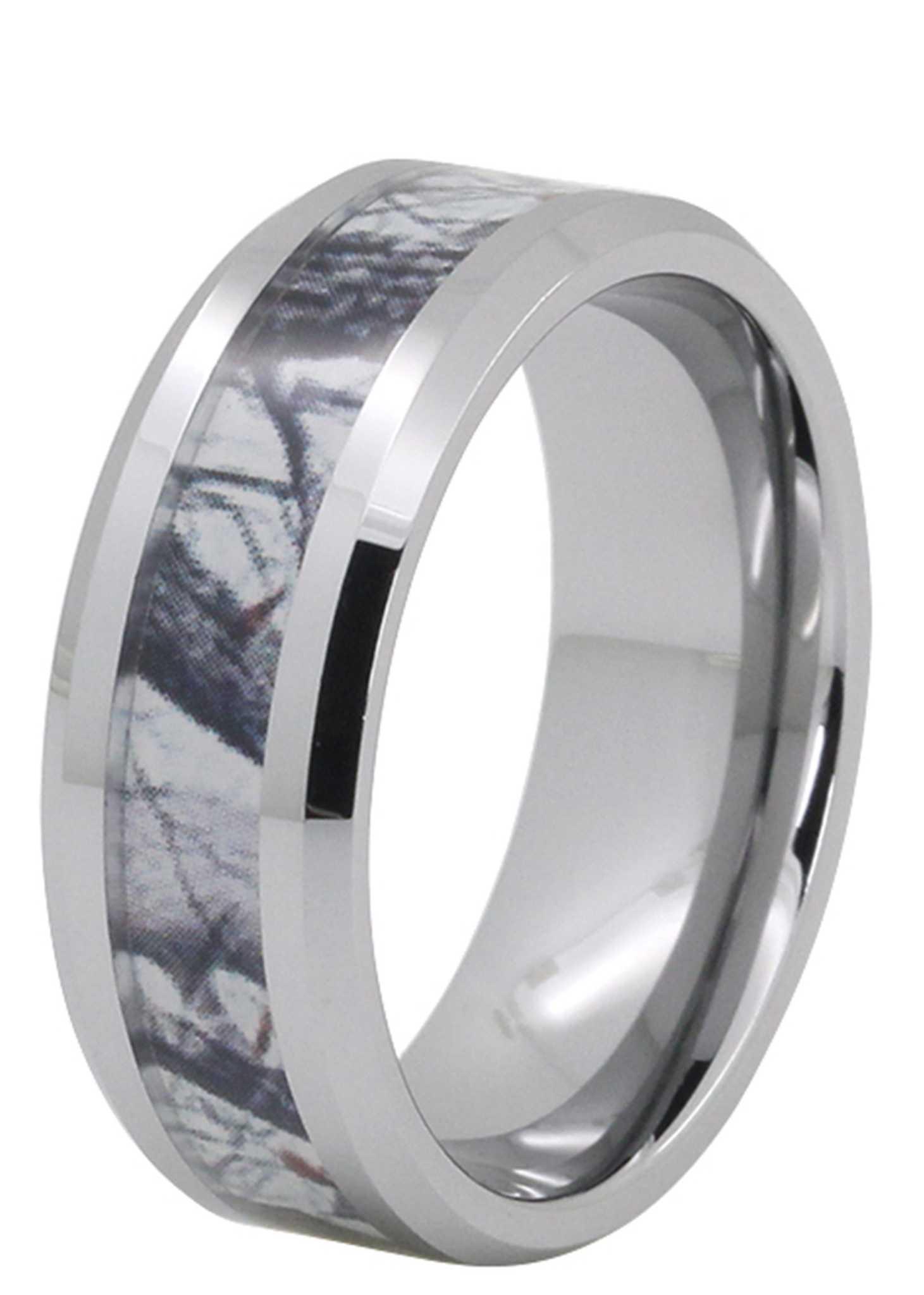 8mm camo wood inlay tungsten wedding band tungsten wedding ring Sale