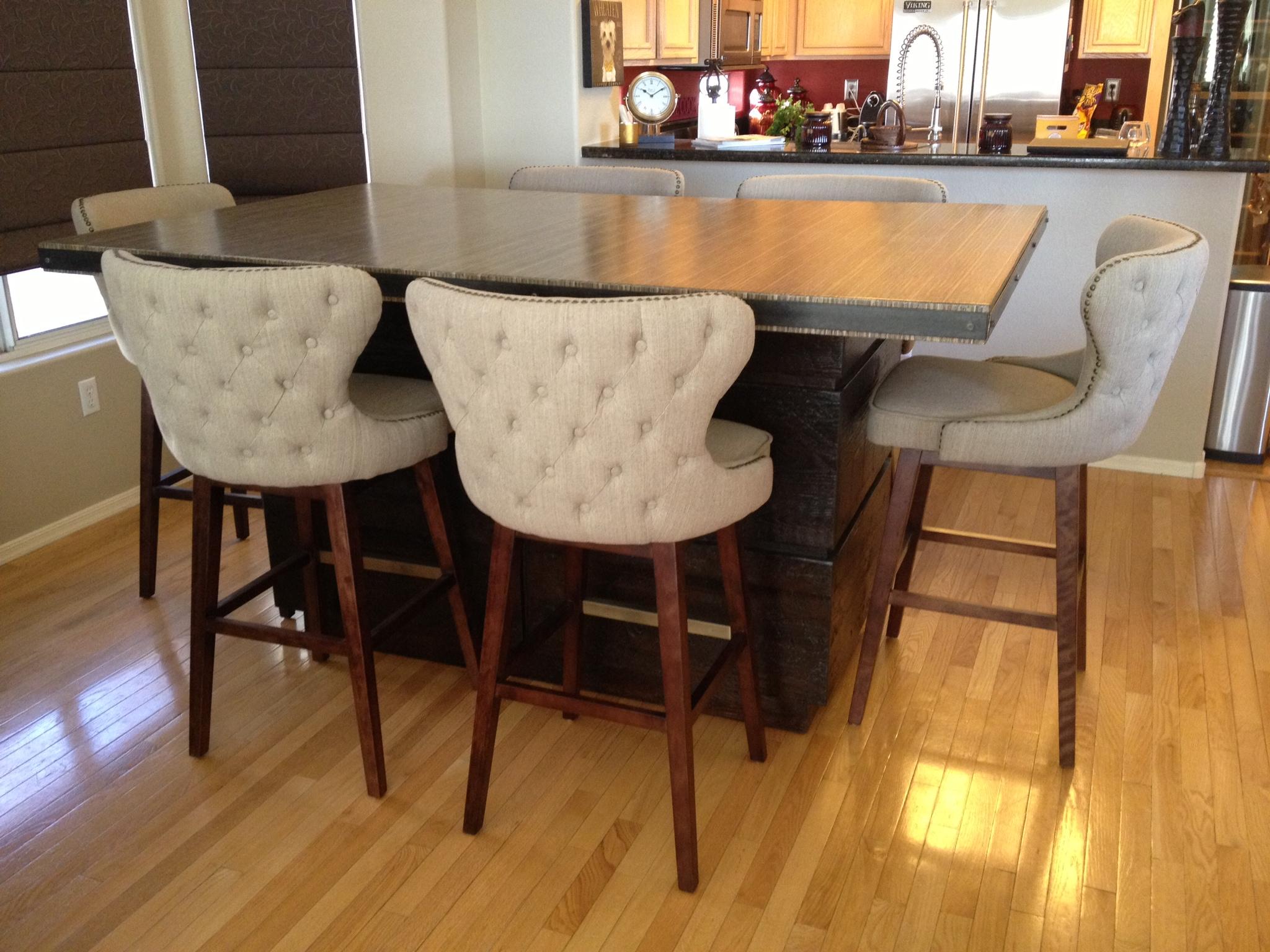 custom kirei kitchen table skg design kitchen table las vegas Urban Woods SKG Kirei and reclaimed wood kitchen table