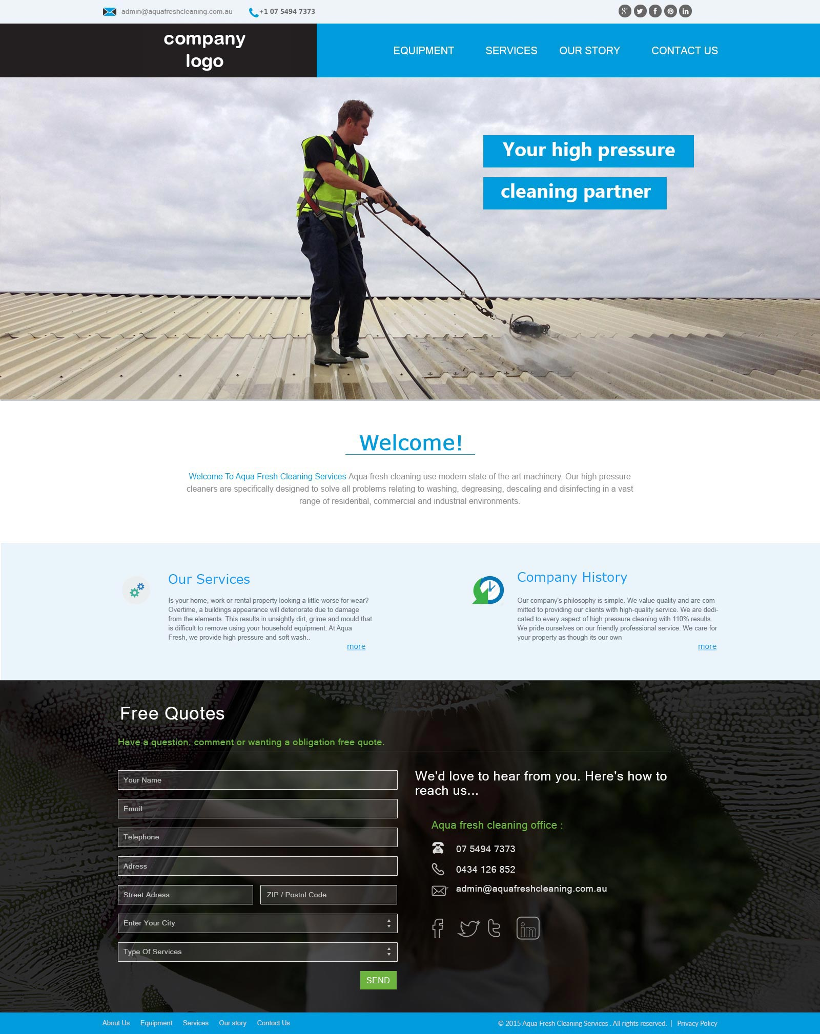 Cleaning Company Website Template