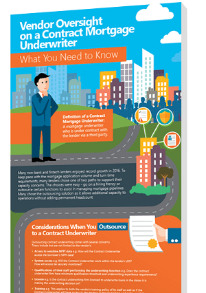Vendor Oversight on a Contract Mortgage Underwriter Infographic