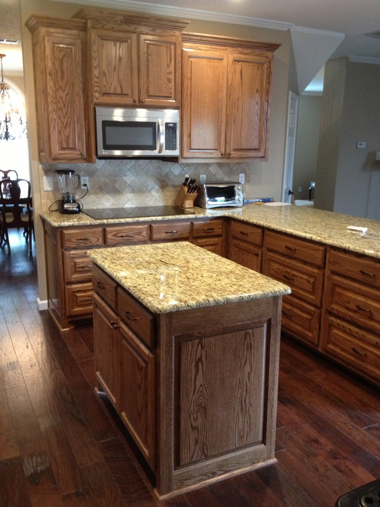 Complete Kitchen remodel New Granite Tile Wood Floors and Cabinets 768x1024