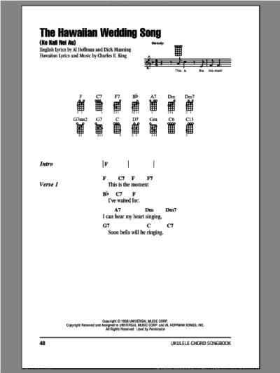 Williams - The Hawaiian Wedding Song (Ke Kali Nei Au ...
