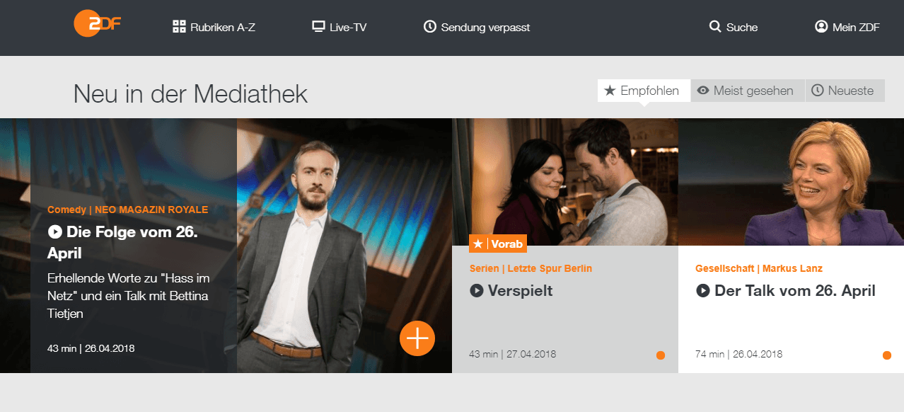 How To Watch ZDF Online Outside Germany   VPNSports To stream ZDF from outside Germany  you ll need to get a subscription of a  Sports VPN service