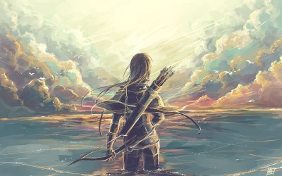 Fantasy Art, Artwork, Archers, Lake, Clouds wallpaper | creative and fantasy | Wallpaper Better