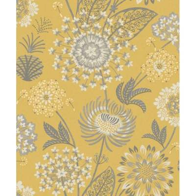 Arthouse Vintage Bloom Floral Mustard Yellow And Grey Wallpaper 676206 - Uncategorised from ...