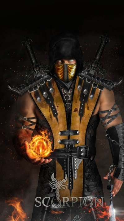 Scorpion Cool Mortal Kombat X Hd Wallpaper for Desktop and Mobiles iPhone 5 / 5S (& iPod) - HD ...