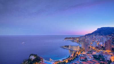 Blue Clouds Over The City Monaco Wallpaper Photos For Desktop Background Free : Wallpapers13.com