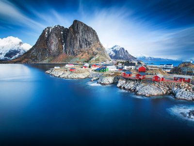Hamnoy In Blue Norway Lofoten Hd Wallpapers For Desktop ...