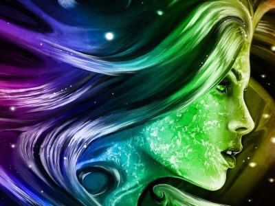 Rainbow Girl 3d Fantasy Abstract Art Digital Hd Wallpapers For Mobile Phones And Laptops ...