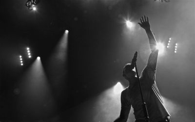 Linkin park monochrome lights concert wallpaper | 1920x1200 | 46182 | WallpaperUP