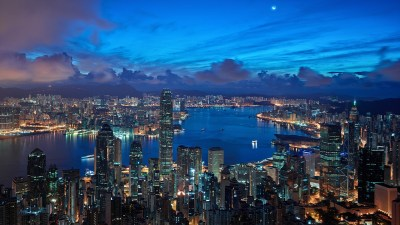 Hong Kong Buildings Skyscrapers Night Clouds wallpaper | 1920x1080 | 117310 | WallpaperUP