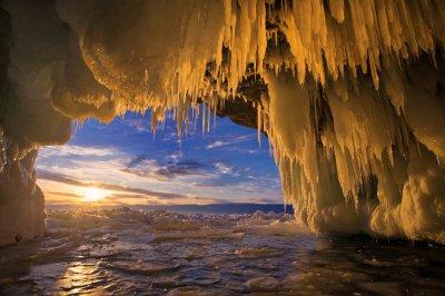 Russia Lake Winter Sunrise sunset Baikal Ice Nature frozen wallpaper | 6000x4000 | 632961 ...