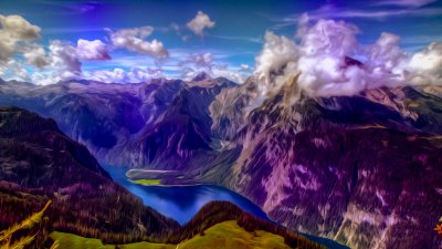 Mountains landscape nature mountain psychedelic wallpaper | 1920x1080 | 652982 | WallpaperUP