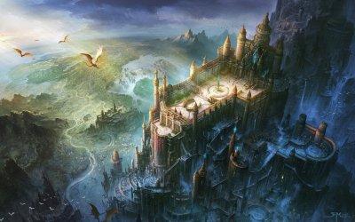 Fortress dragon castle artwork wallpaper   1920x1200   848938   WallpaperUP