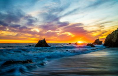 USA Coast Sunrises and sunsets Waves Sky Crag Malibu Nature wallpaper | 7796x5056 | 919761 ...