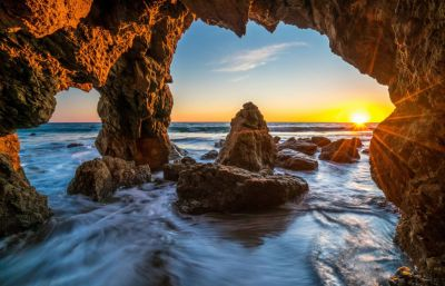 Ocean Sunrises and sunsets USA Malibu Crag Nature wallpaper | 7777x5016 | 991972 | WallpaperUP