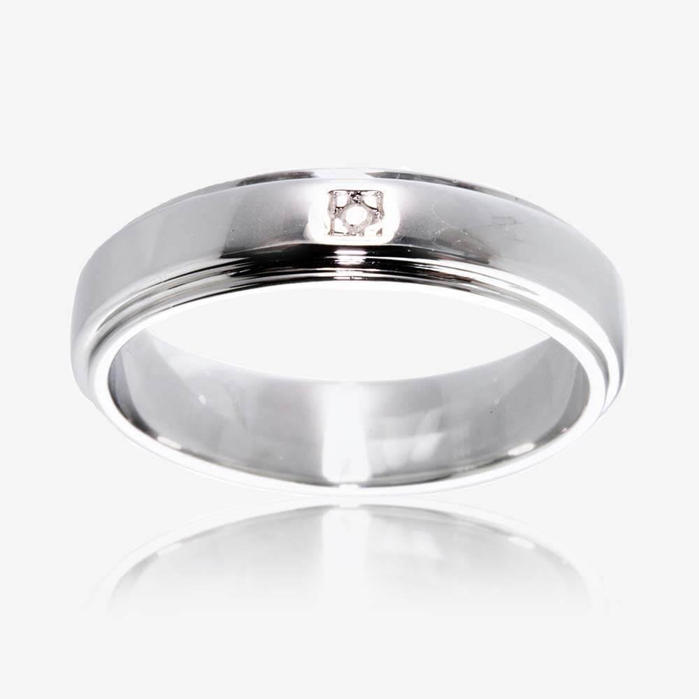 wedding rings wedding ring with band Sterling Silver Diamond Band Ring