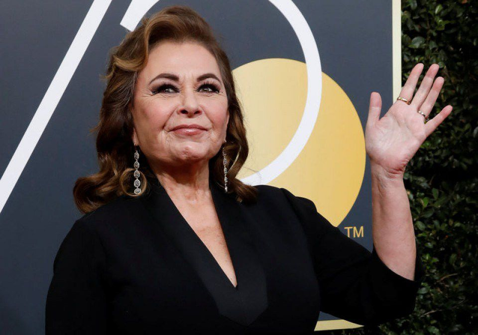 Roseanne Barr breaks down sobbing in newly released interview after     Actress Roseanne Barr arrives at the 75th Golden Globe Awards in Beverly  Hills  Calif   in January   Mario Anzuoni Reuters