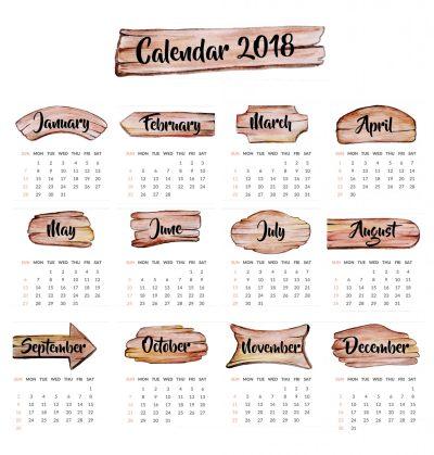 2018 Year Calendar Wallpaper: Download Free 2018 Calendar ...