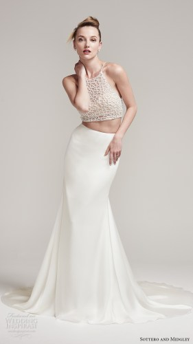 bridal designers 2 piece wedding dresses Willowby by Watters 2 piece wedding dress