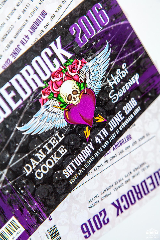 rock and heavy metal influenced wedding table plans skull wedding invitations wedrock tattoo skull metal rock wedding invitations