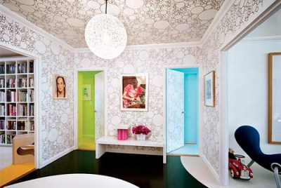 How to Wallpaper a Ceiling | We Say How