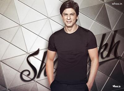 Shah Rukh Khan Black T-Shirt With Smiley Face HD Wallpaper