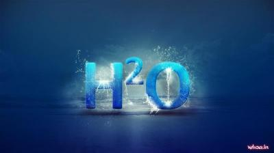 H2o Formula Of Water 3D, And Hd Blue
