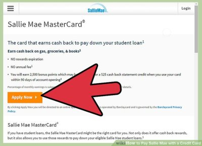 How to Pay Sallie Mae with a Credit Card: 13 Steps (with Pictures)