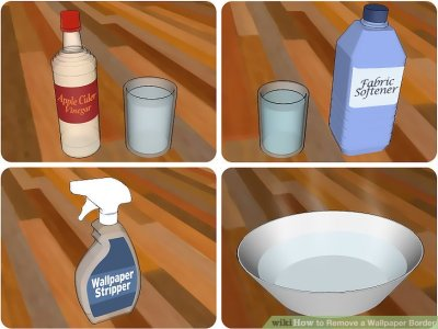 3 Ways to Remove a Wallpaper Border - wikiHow
