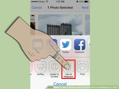 How to Set a Picture from Camera Roll as Wallpaper in iOS 7