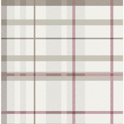 Wilko Wallpaper Tartan Check Red | Wilko