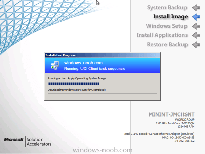 using SCCM 2012 RC in a LAB - Part 18. Deploying a UDI Client Task Sequence with MDT 2012 RC1 ...