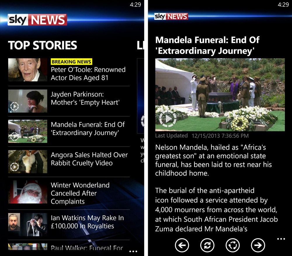 Watch live news or read the latest stories from the Sky News app on Windows Phone | Windows Central
