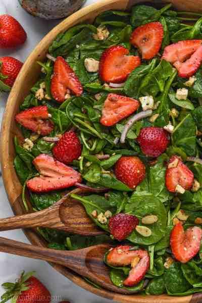 The Best Strawberry Spinach Salad   Wine & Glue