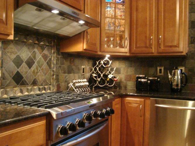 kitchen tile kitchen tile backsplash Custom Cut Slate Mosaic Tile st louis kitchen tile Backsplash 4