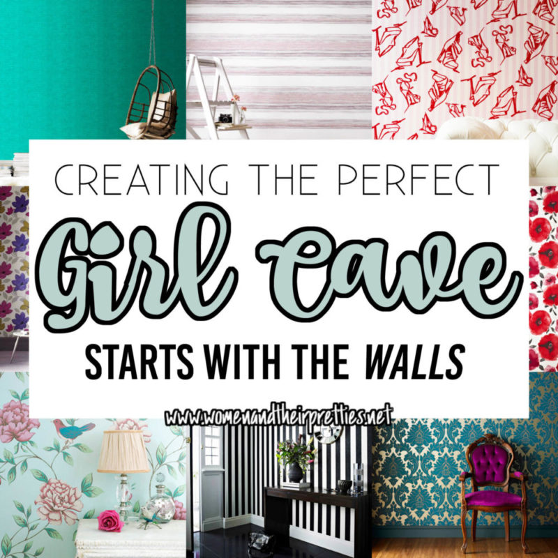 The first step to creating a Girl Cave is to glam up those walls | #GirlCave #Goals | Women and ...