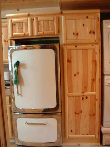 cabinetry rustic kitchen cabinets 06Log Panel Kitchen3