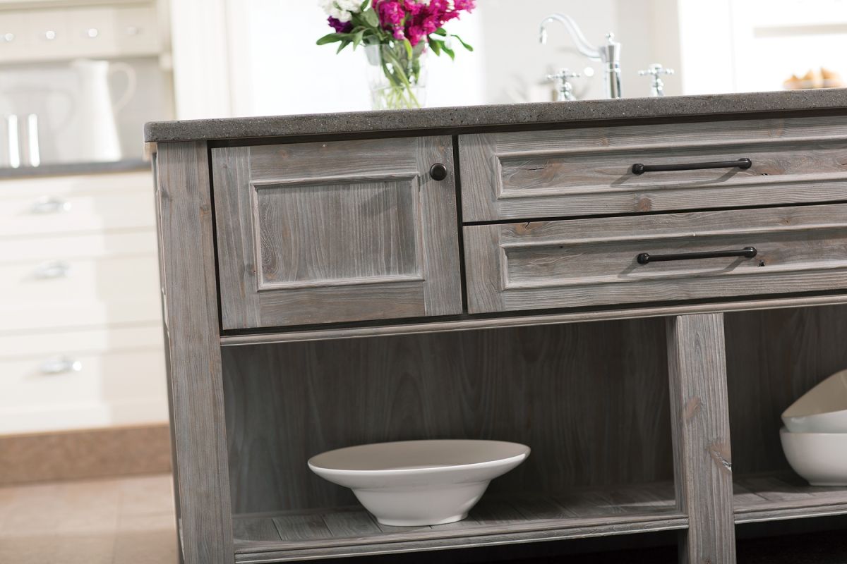 gray finishes continue popularity staining kitchen cabinets Weathered gray kitchen cabinetry finishes both painted and stained gain popularity