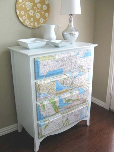27 Cool DIY Furniture Makeovers with Wallpaper - Amazing DIY, Interior & Home Design