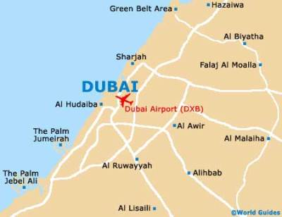 Where is Dubai Location Map in the World | UAE Dubai Metro City Streets Hotels Airport Travel ...