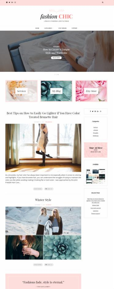 Fashion Chic Review - Blog Theme by Theme Junkie   READ TRUTH