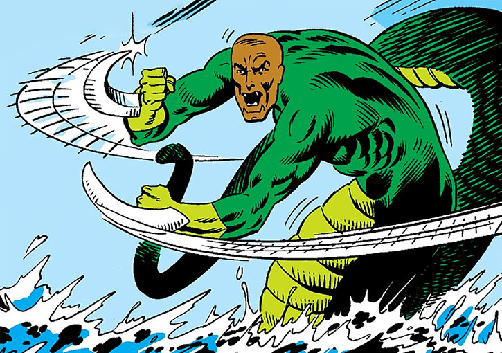 Bushmaster   Marvel Comics   Serpent Society   Quincy McIver     Bushmaster in water